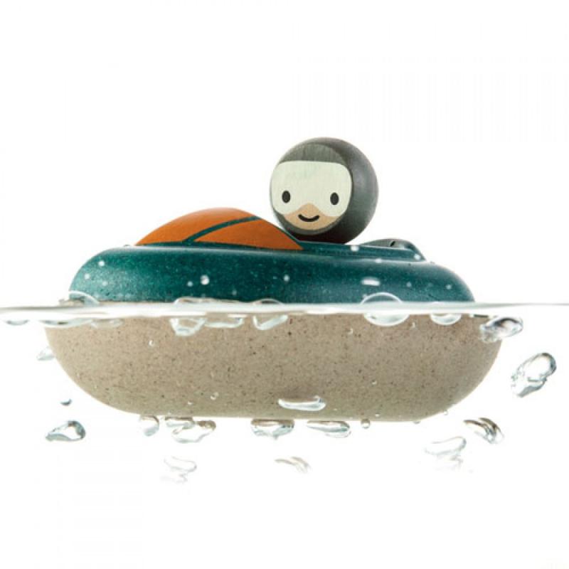 Plantoys Houten Badspeeltje -  Speedboot
