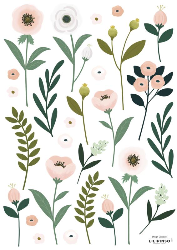 Lilipinso Wonderland Muursticker A3 - Flowers & Leaves
