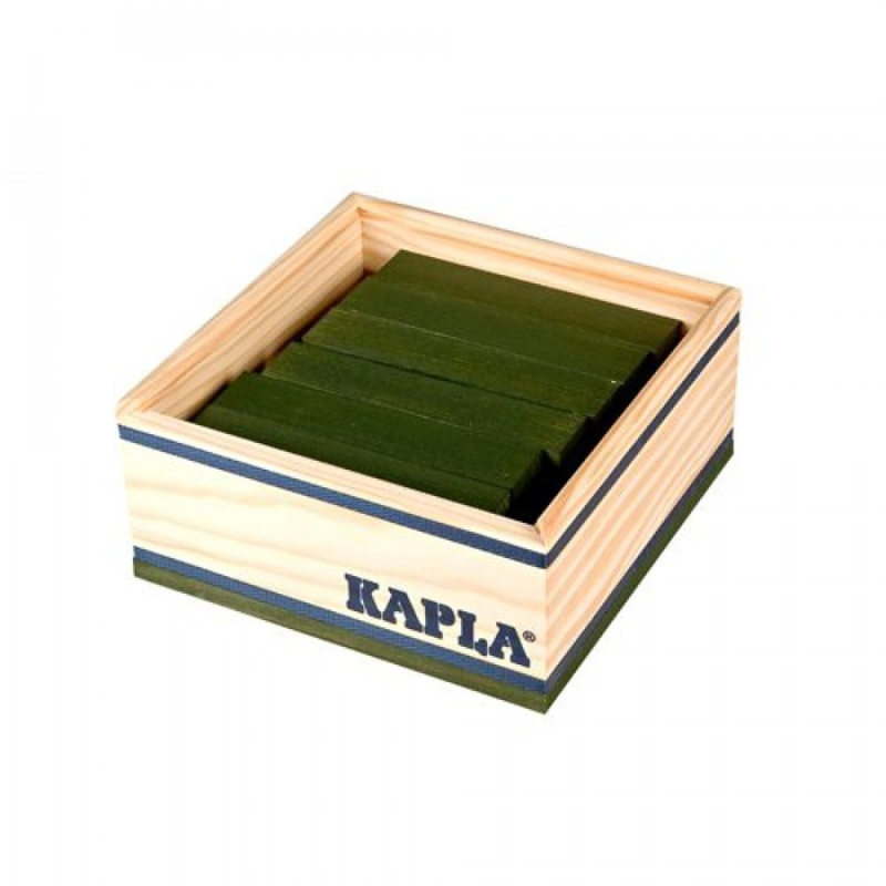 KAPLA Kist 40 Bouwplankjes - Donker Groen