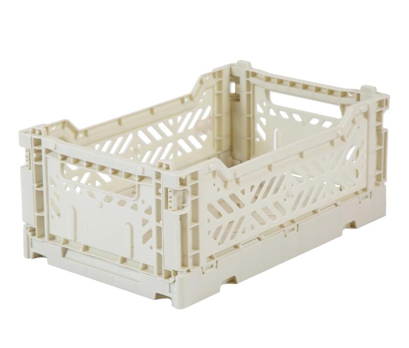 AyKasa Folding Crate Mini Box - Light Grey