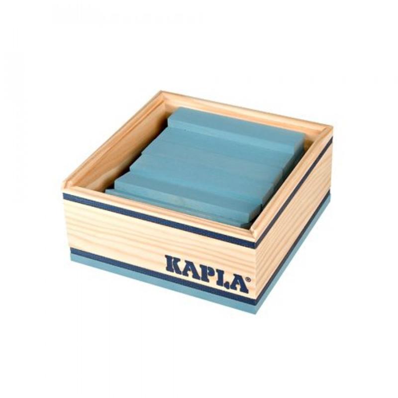 KAPLA Kist 40 Bouwplankjes - Licht Blauw