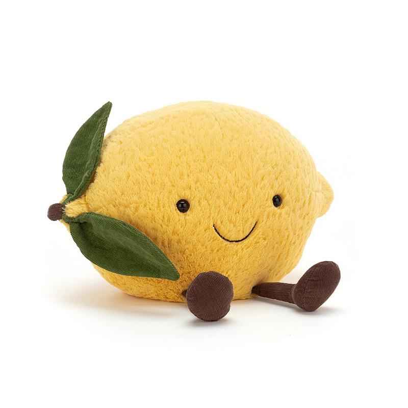 Jellycat Amuseable Lemon Large - Knuffel Citroen (27 cm)