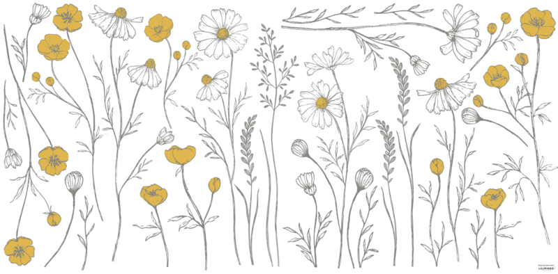 Lilipinso Chamomile Muursticker XL - Meadow Flowers Big