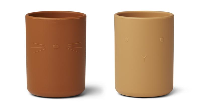 Liewood Ethan Cup Siliconen Bekers - Yellow Mix (set van 2)