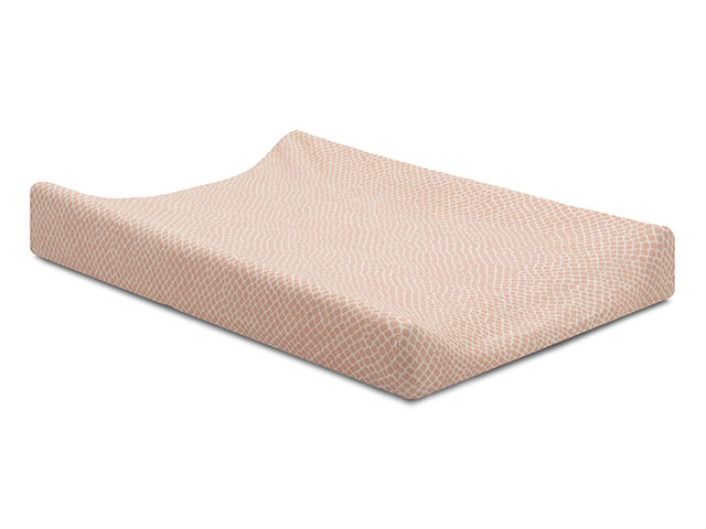 Jollein Aankleedkussenhoes Jersey - Snake Pale Pink