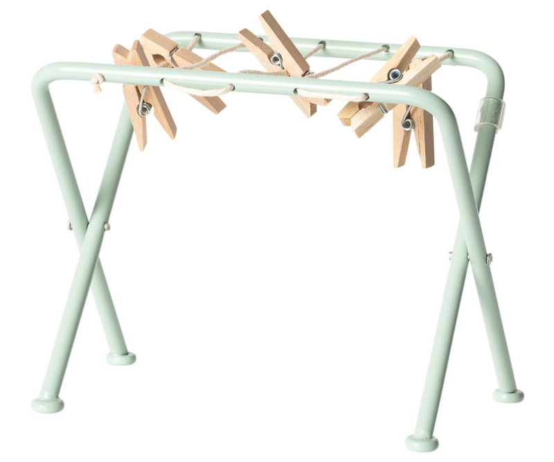 Maileg Droogrek Poppenhuis - Drying Rack with Pegs