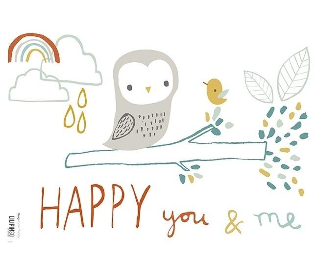 Lilipinso Forest Happy You & Me - Muursticker (S0696)
