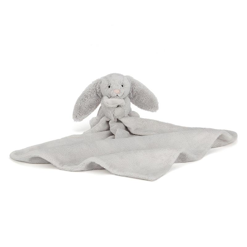 Jellycat Bashful Bunny Silver Soother - Knuffeldoek Konijn