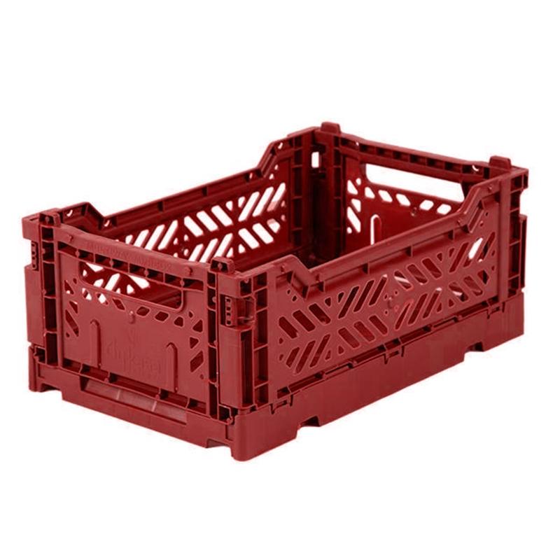 AyKasa Folding Crate Mini Box - Tile Red