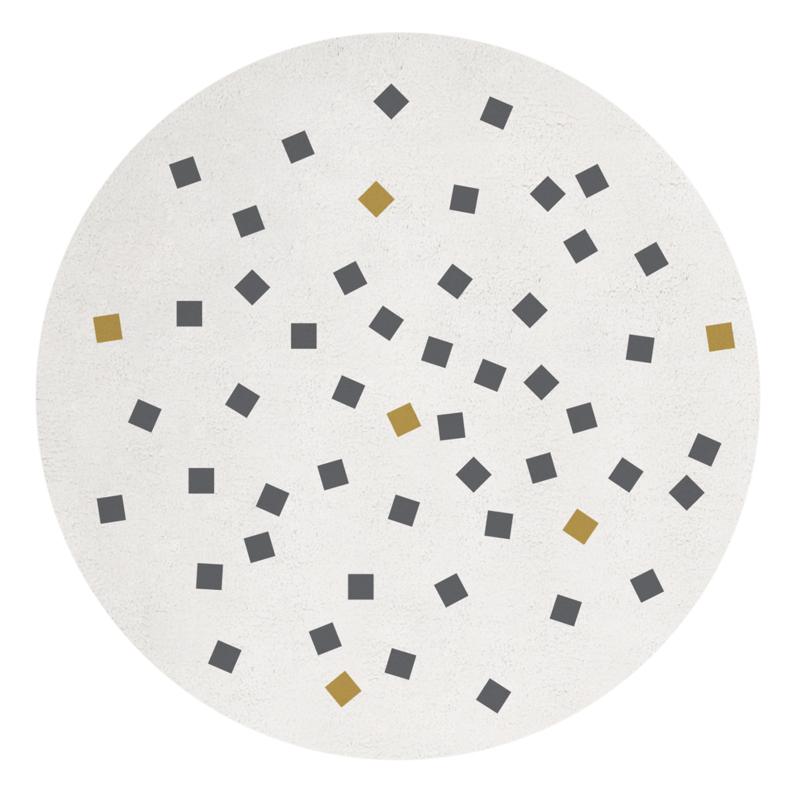 Lilipinso Vloerkleed Rond Enchanted - Vierkantjes (H0511)