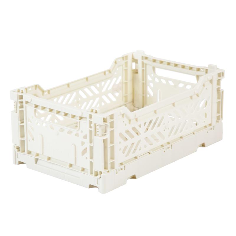 AyKasa Folding Crate Mini Box - Coconut