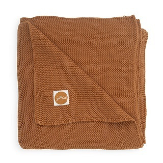 Jollein Gebreide Wiegdeken Basic Knit - Caramel (75 x 100 cm)