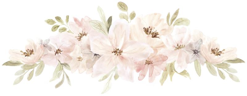Lilipinso Appoline Muursticker XL - Flowers Composition