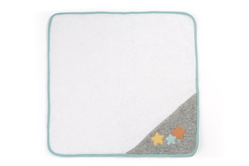 Miniland Wikkeldoek wit en grijs - (40 cm)