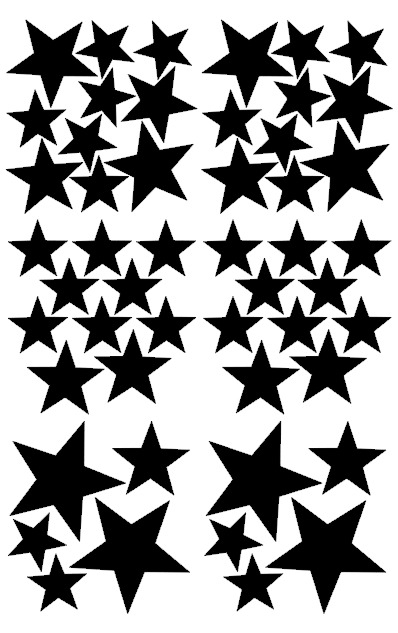 Pom Muurstickers - Sterretjes (zwart)