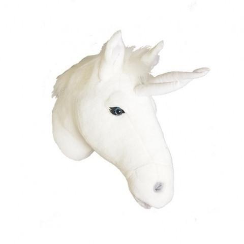 Wild and Soft Dierenkop - Eenhoorn wit