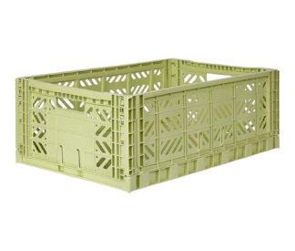 AyKasa Folding Crate Maxi Box - Lime Cream