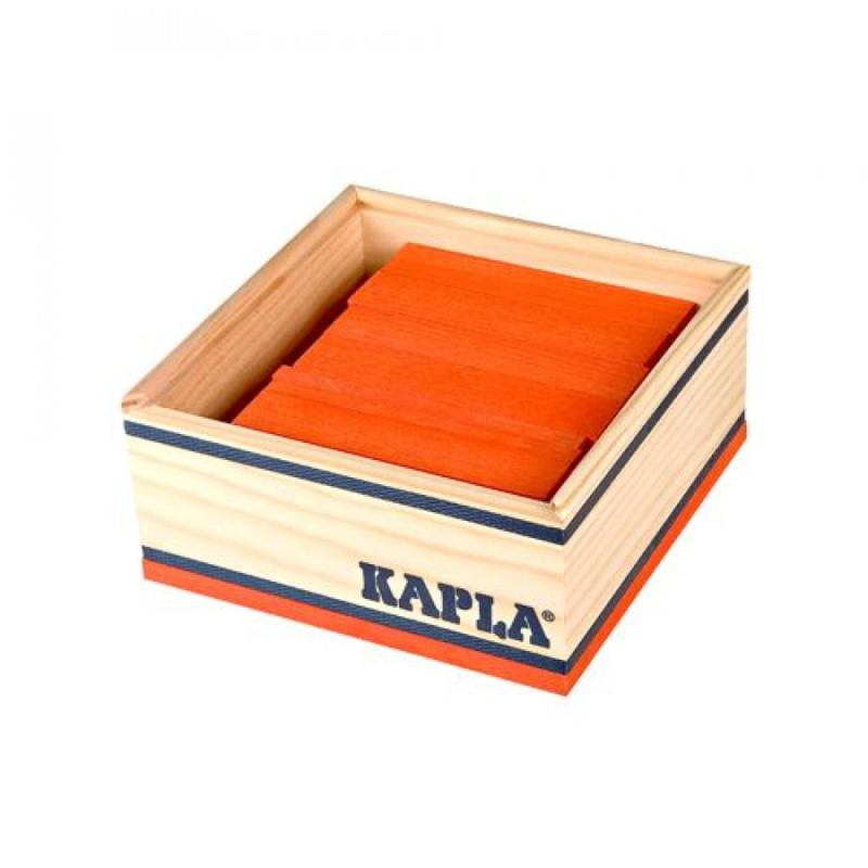 KAPLA Kist 40 Bouwplankjes - Oranje