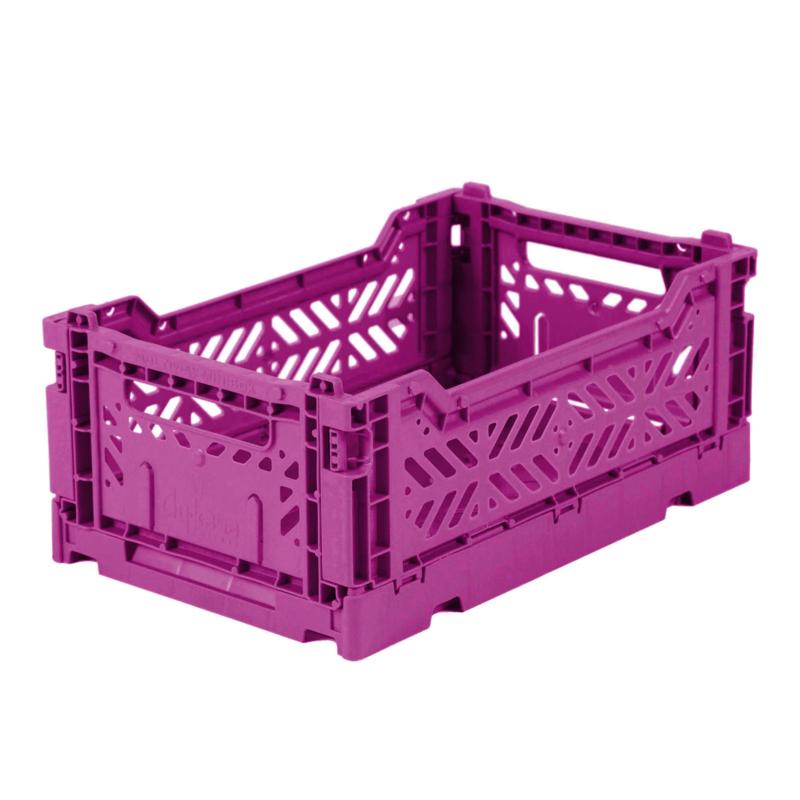 AyKasa Folding Crate Mini Box - Purple