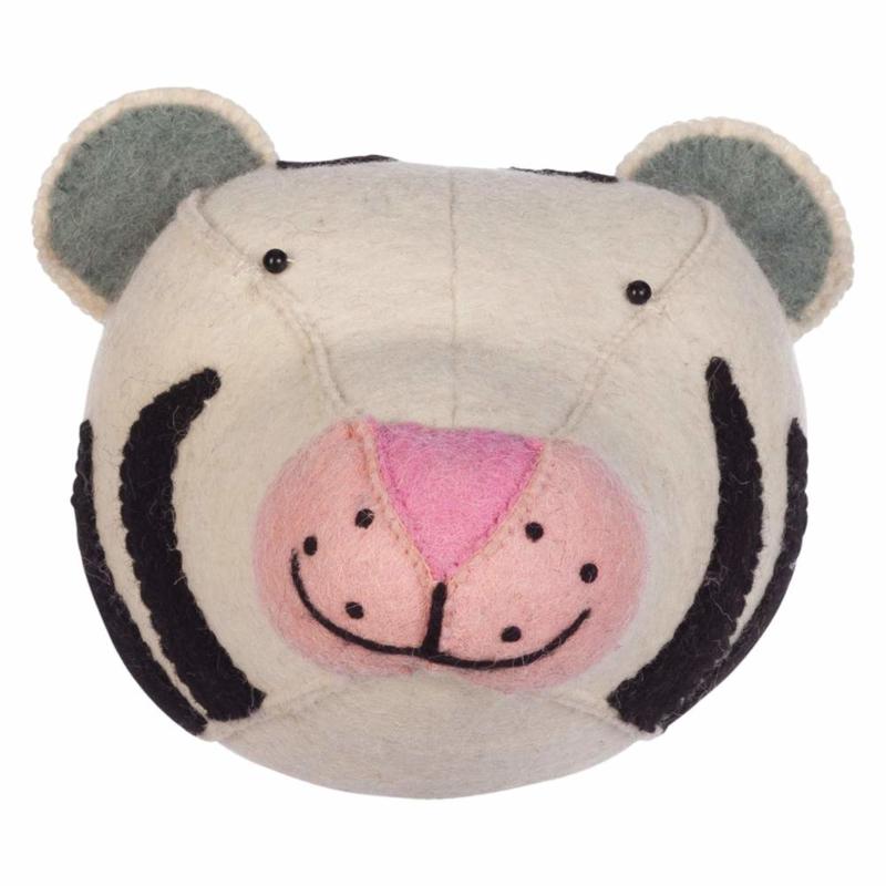 KidsDepot Dierenkop Zoo Animals Vilt - Tijger