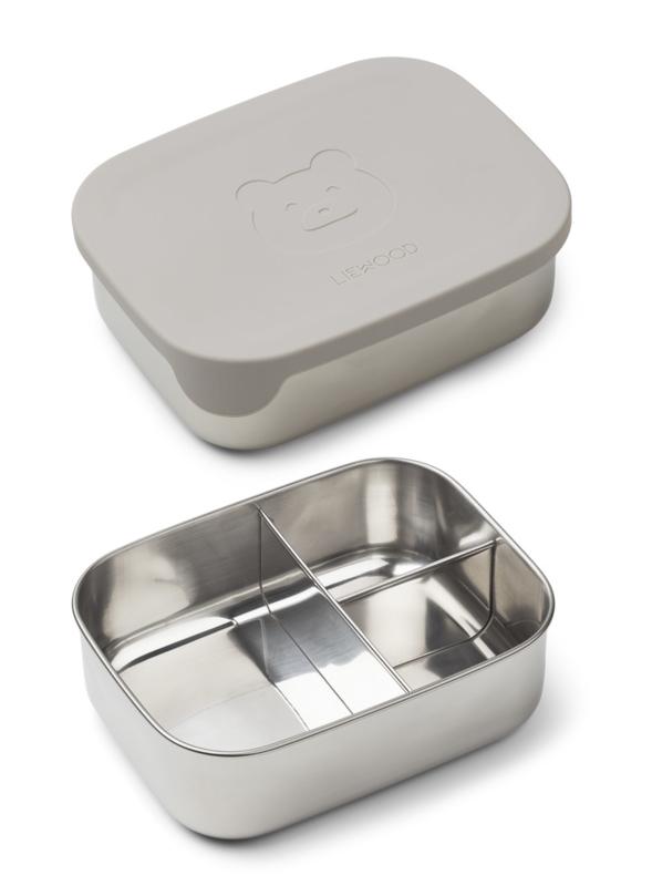 Liewood Lunchtrommel RVS Arthur Lunchbox - Mr Bear Dumbo Grey
