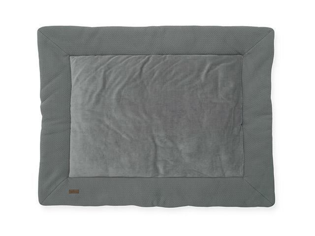 Jollein Boxkleed Brick Velvet - Storm Grey (80 x 100 cm)