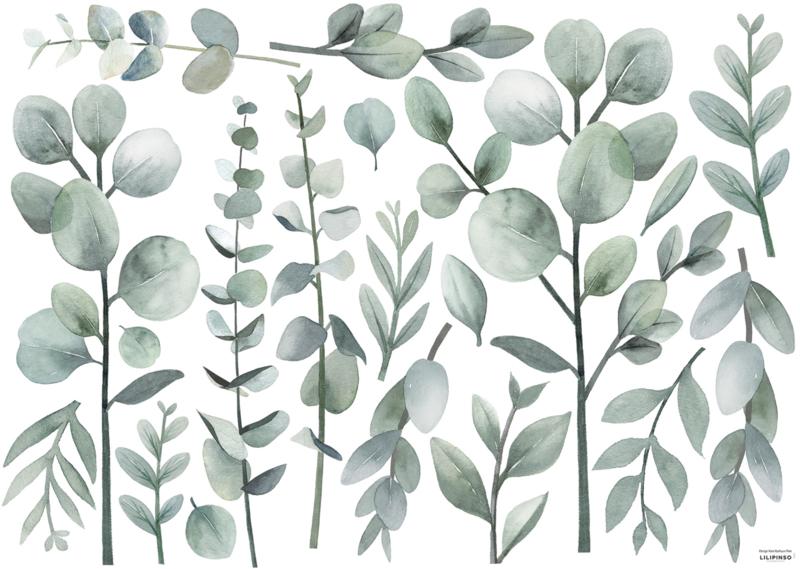 Lilipinso Greenery Muursticker XL - Green Stems and Foliage