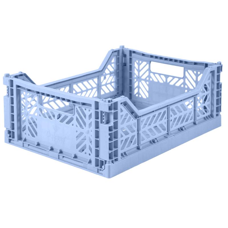 AyKasa Folding Crate Midi Box - Babyblue