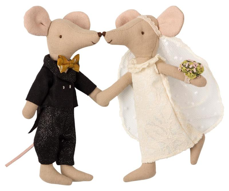 Maileg Wedding Mice Couple in Box  (15 cm)