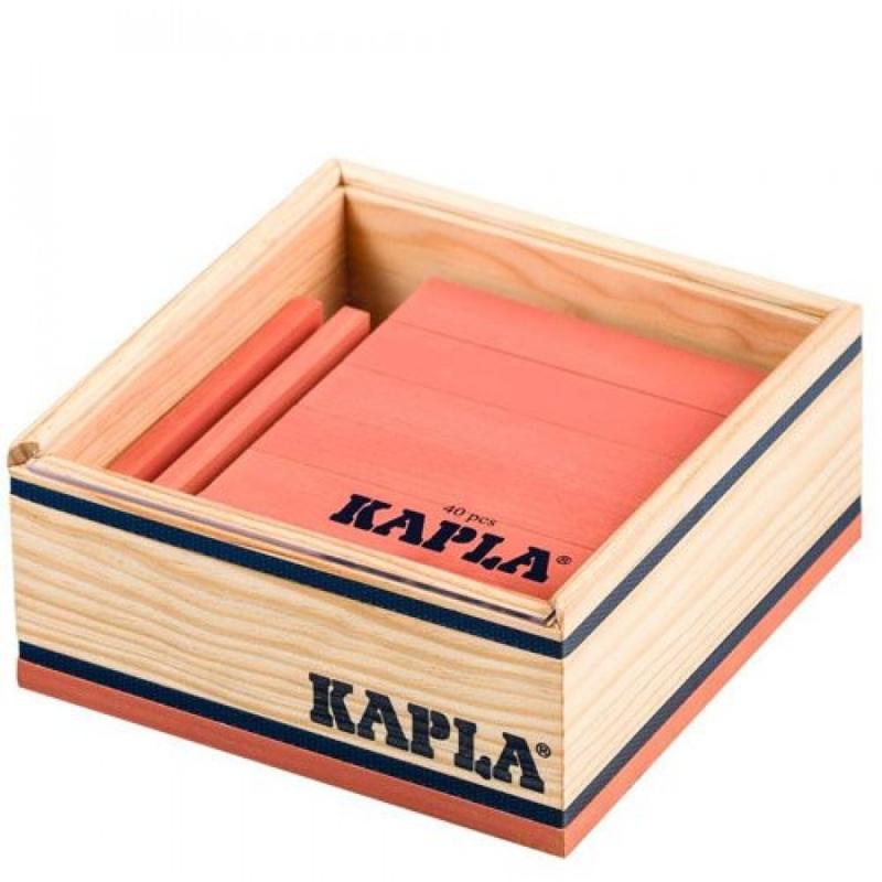 KAPLA Kist 40 Bouwplankjes - Roze