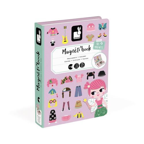 Janod Magneetboek - Verkleedfeest Meisjes