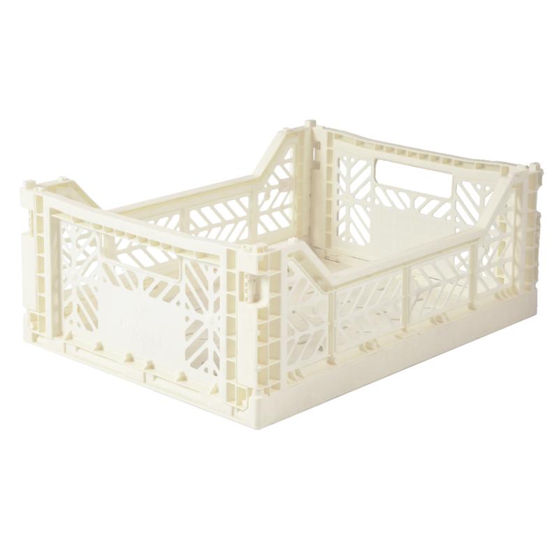 AyKasa Folding Crate Midi Box - Coconut
