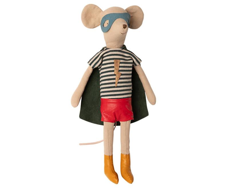 Maileg Knuffel Muis Super Hero Mouse Medium - Boy