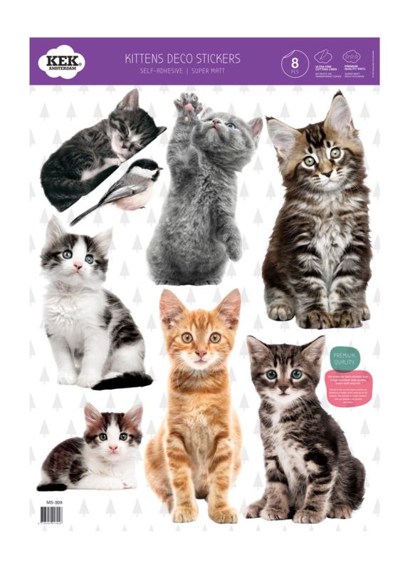 Kek Amsterdam Muursticker - Katten (set van 8) (MS-309)