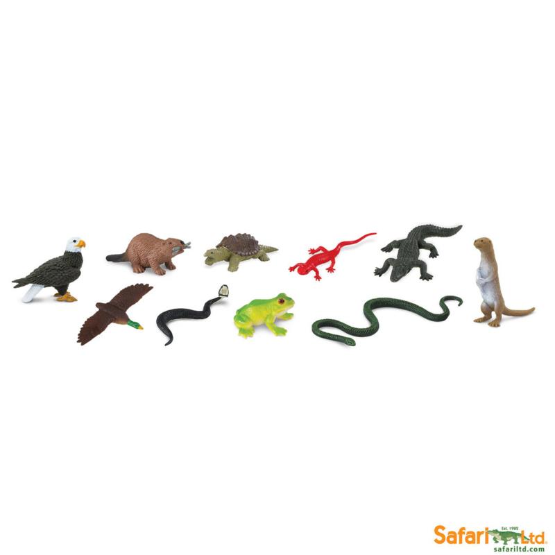 Safari Speelfiguren Toob Set - Rivierdieren Noord-Amerika