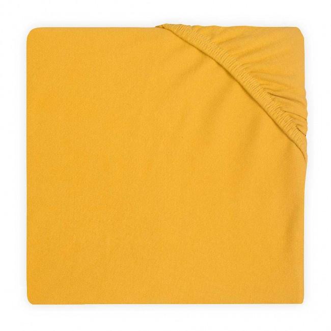 Jollein Hoeslaken Ledikant Double Jersey - Oker Geel (60 x 120 cm)