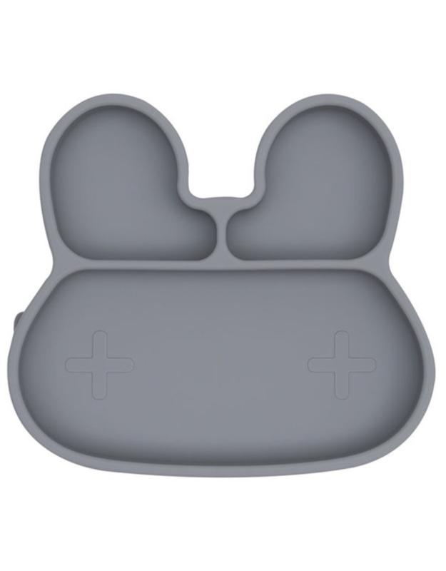 We Might Be Tiny Stickie Plate Bord Konijn - Grey