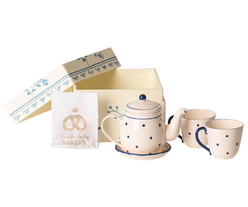 Maileg Thee en Biscuit Set Poppenhuis - Tea and Biscuits for two