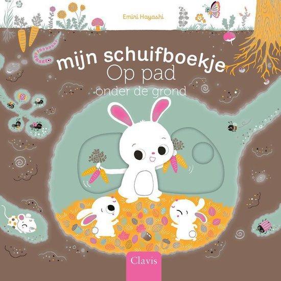 Uitgeverij Clavis Schuifboekje - Op pad onder de grond +1jr