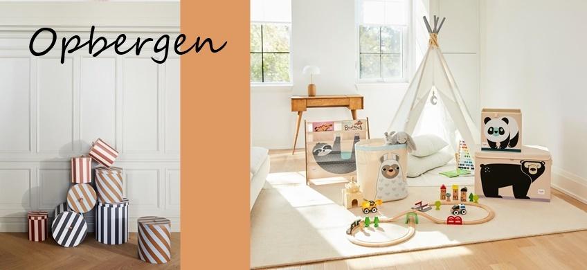 Prachtige en handige opbergers voor in de baby- en kinderkamers.