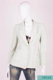 Chanel Jacket - minty green/metallic