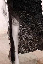 Christian Dior avondjurk - zwart/bloemcorsage