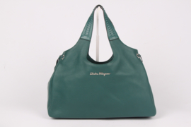 Salvatore Ferragamo Large Tote Bag - emerald green