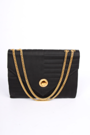 Chanel Vintage Silk & Satin Evening Bag - black