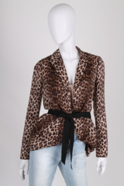 Lanvin Animal Print Blouse - brown/black