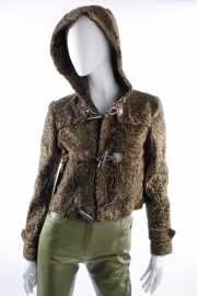 Ralph Lauren Lambskin Fur Coat - olive green