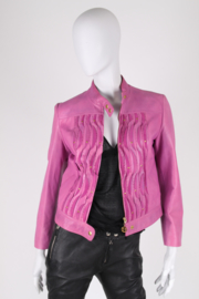 Roberto Cavalli CLASS Leather Jacket - purple