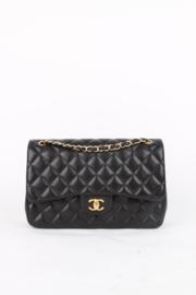 Chanel 2.55 Timeless Jumbo Flap Bag - black/gold