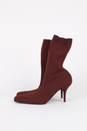 Balenciaga Fall/Winter 2017 Knife sock boots/ heels in burgundy size 41