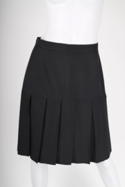 Chanel Pleated Silk Skirt - black